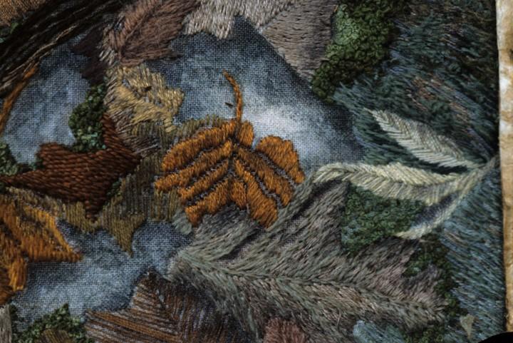 Autumn Garden - Detail of Stitchery